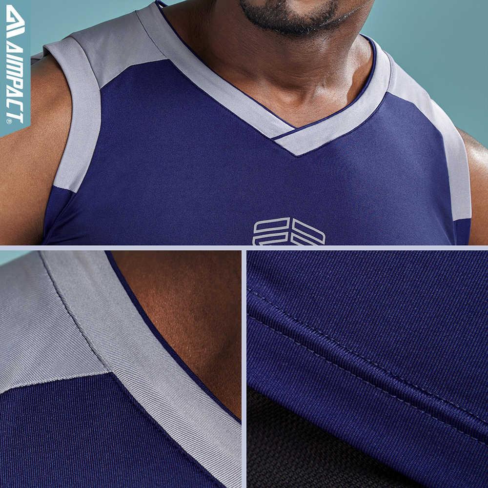 Aimpact 2 шт./лот 2018 Новые Топы на бретельках для мужские, быстросохнущие пикантные рубашка без рукавов мужской Gymi тренировки Мужской брендовая одежда Для мужчин 2AM1025