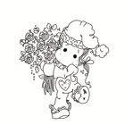 Holding flower girl ...