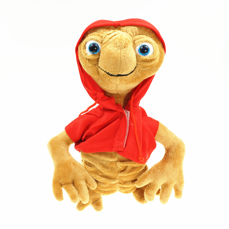 20cm ET The Extra Terrestrial Alien Stuffed Plush Toy Cotton Doll With Hoodie Collectible Toys Kids Gift
