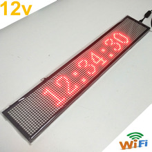 Фотография 12V 50CM P5 Red LED Display Module Wifi Indoor LED Moving Message Display Advertising Sign Board Waterproof IP54 For Business