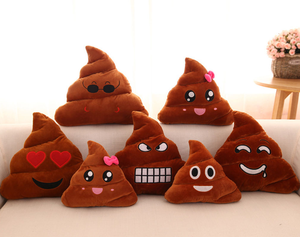 2017 NEW Poop Poo Family Emoji Emoticon Pillow Stuffed Plush Novelty Toy Soft Cushion Doll Support Drop Shipping
