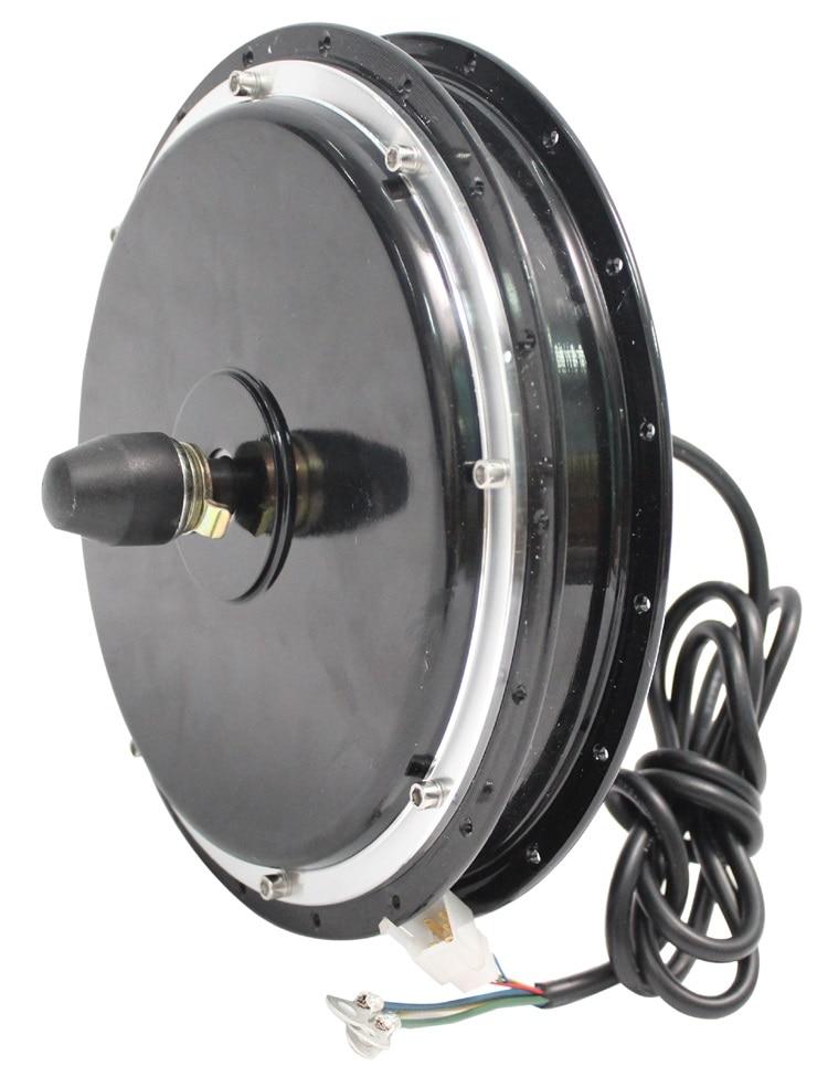 Ebike moteur de moyeu puissant 36 V 48 V 500 W 350 tr/min vélo électrique sans brosse sans engrenage DC roue avant décrochage largeur 100mm