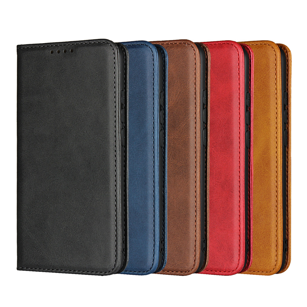 Coque Etui Huawei Honor 10 Case Cover Leather Case For Huawei Honor 10 Honor10 Luxury Calf Grain Magnetic Flip Wallet Fundas Bag