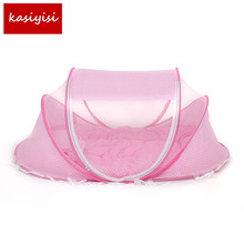 Baby Bedding Crib Netting Folding Music Mosquito Nets Bed Mattress Pillow Three-piece Suit for 0-12Months