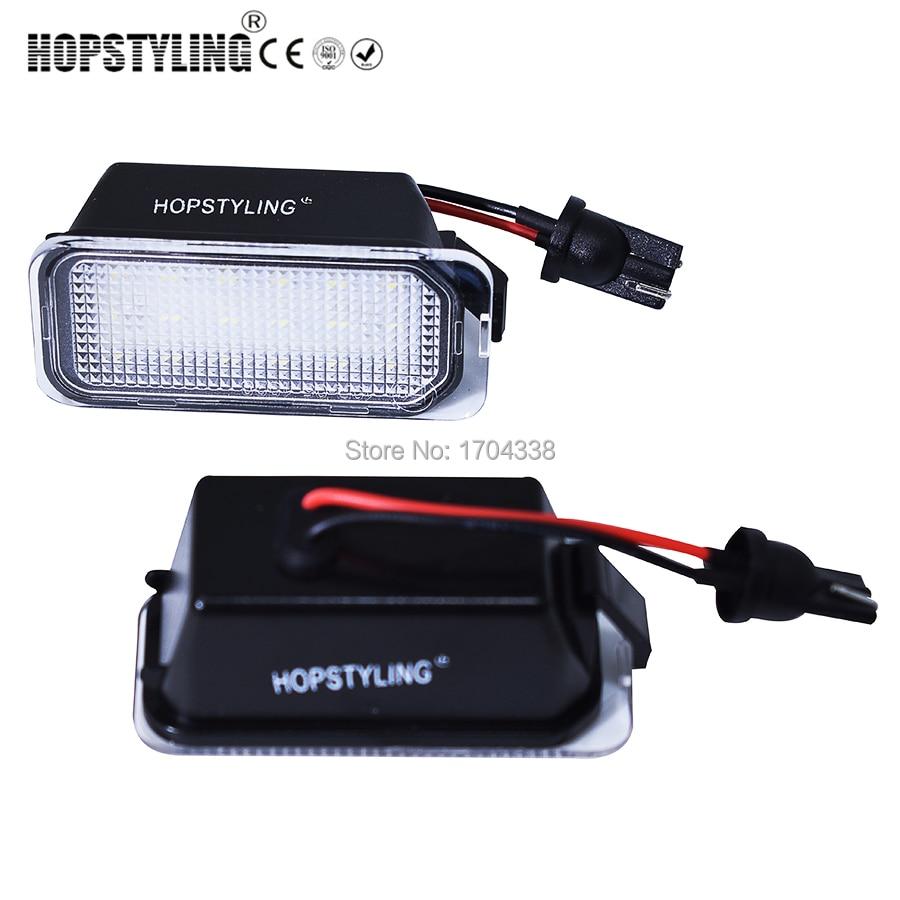Hopstyling 2 pcs / lot LED Nomor Plat Cahaya Lampu Untuk Fokus DA3 DYB Fiesta C-MAX Mondeo Kuga Galaxy S-Max Galaxy