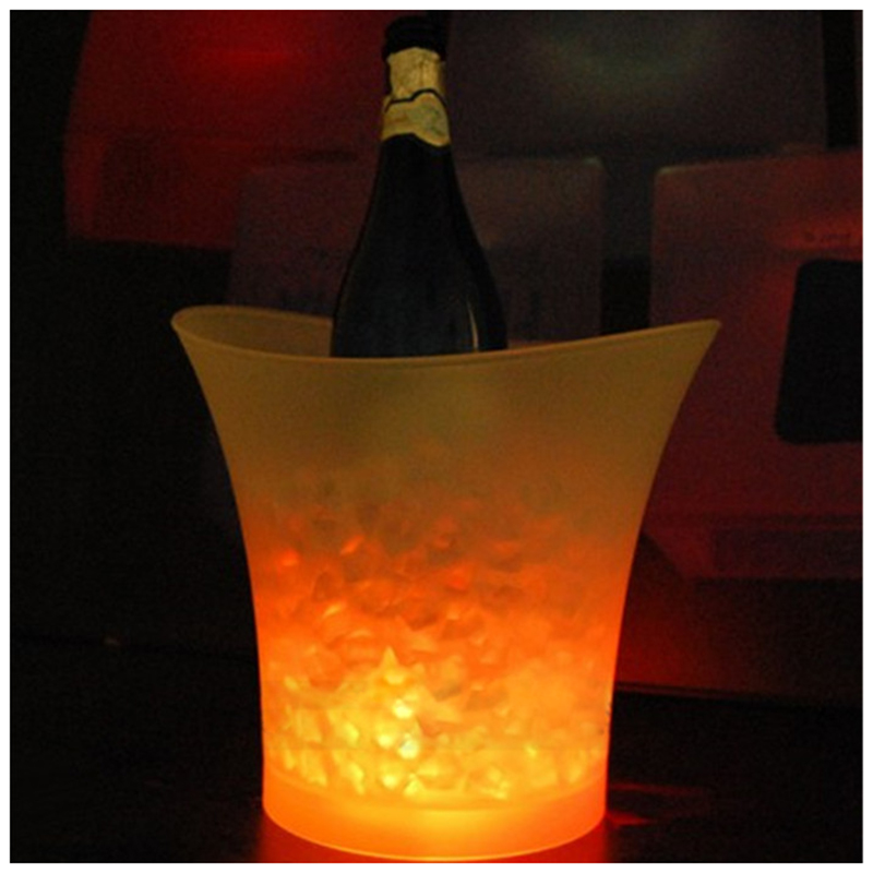 5L Volume Plastic Led Ice Bucket Color Changing Bars Nightclubs LED Light Up Ice Bucket Champagne Beer Bucket