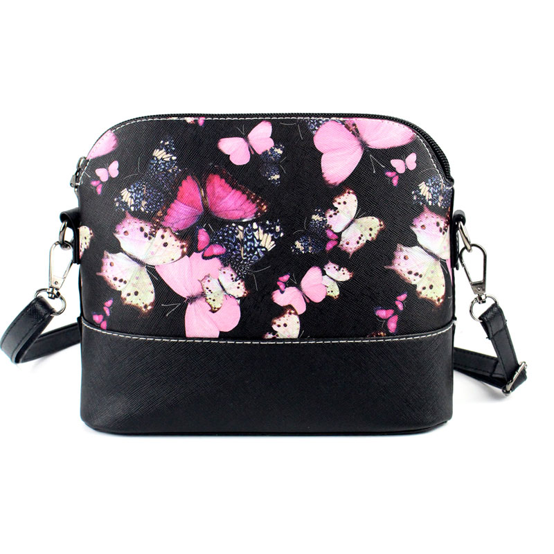Bolsa Estilo Satchel : Mojoyce women bag floral print handbag messenger leather