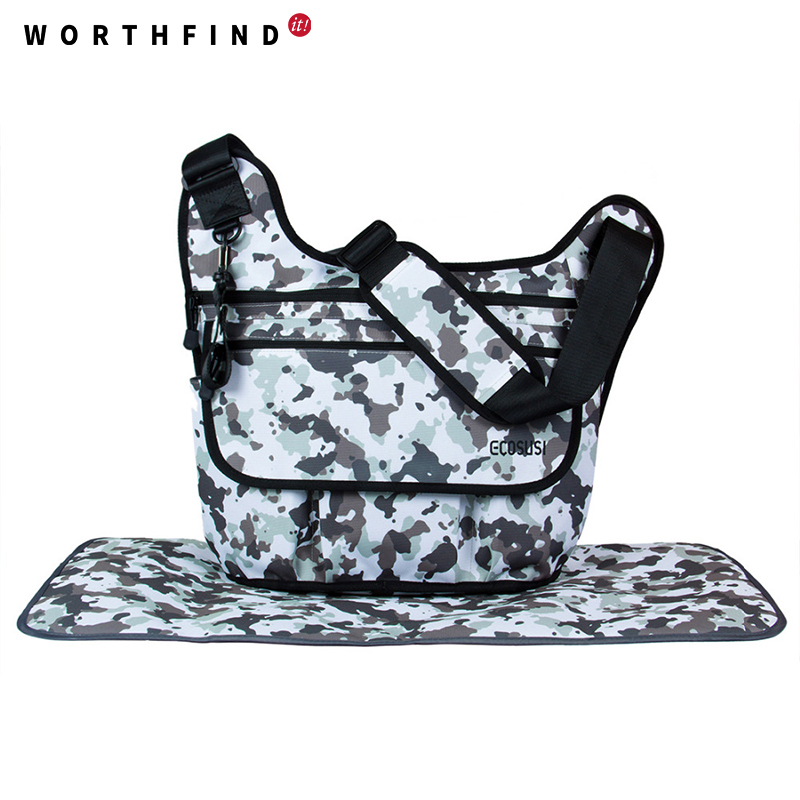 worthfind new diaper nappy baby bags for daddy camouflage messenger bag for father fashion. Black Bedroom Furniture Sets. Home Design Ideas