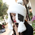 Free Shipping Women Winter Bomber Hat Korean Version Faux Fur Earflap Trapper Hats Outdoor Ski Cap Warm Mongolia Princess Hat