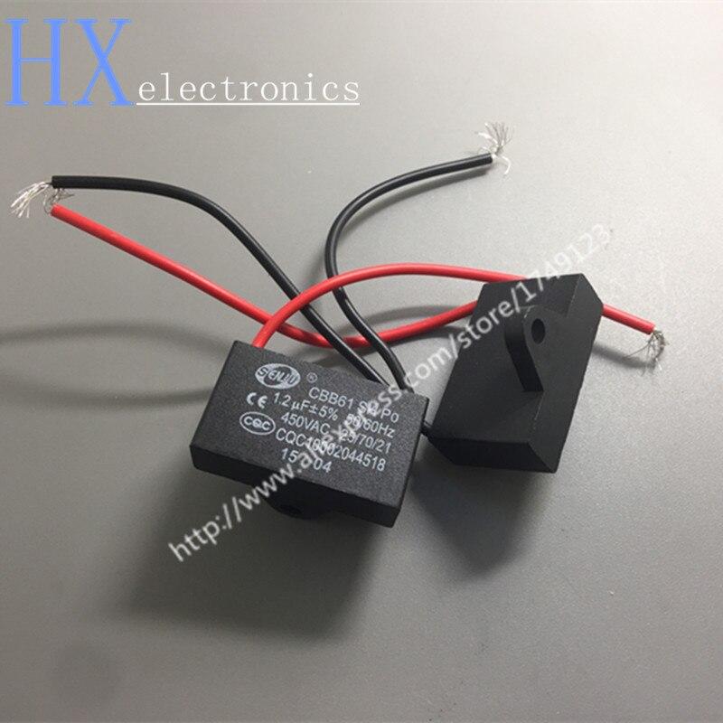 இEnvío libre 5 unids CBB61 condensador de arranque 1.2 UF/450 V ...