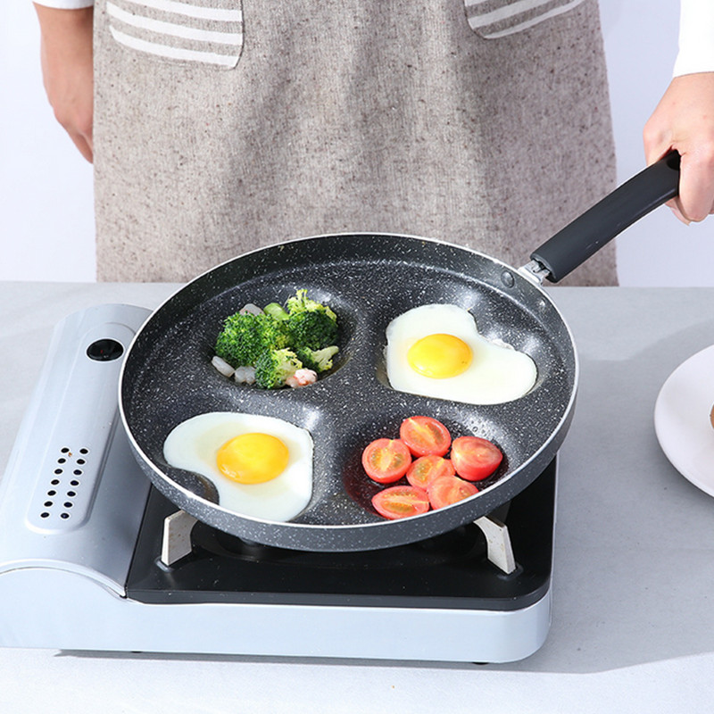 Free shipping 28cm Non-stick breakfast griddles pans heart shape frying pans for Gas and induction cooker use