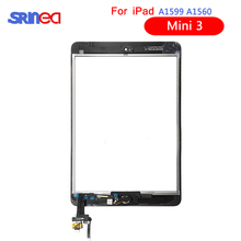 Touch Screen For iPad Mini 3 Mini3 A1599 A1600 A1601 7.9 Touch Digitizer Sensor with IC Connector+Home Button 10pcs dhl free checked for ipad mini 3 mini3 a1599 a1600 lcd screen digitizer panel assembly replacement part