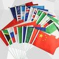 20 Acessórios Rússia bandeira da mão acenando Bandeiras pequenas bandeiras nacionais Do Estado Nos Estados Unidos Europa