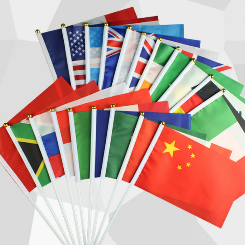 >20 national State hand flag waving <font><b>small</b></font> flags Banners Accessories Russia <font><b>United</b></font> States Europe