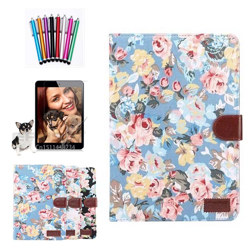 For Huawei MediaPad T3 10 Case 2017 New Painted Painted Cloth Wallet Card Slot PU Leather