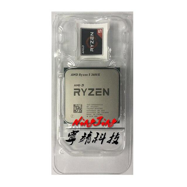 AMD Ryzen 5 3600X R5 3600X 3.8 GHz processore CPU a dodici Thread a sei Core 7NM 95W L3 = 32M 100 000000022 Socket AM4 nuovo ma senza ventola