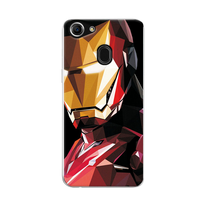 half off bbf2c f53d0 US $1.24 30% OFF|Charming Marvel Hero Captain America Phone Case For Oppo  F7 Spiderman Iron Man Soft TPU For Oppo F 7 Oppof7 6.23