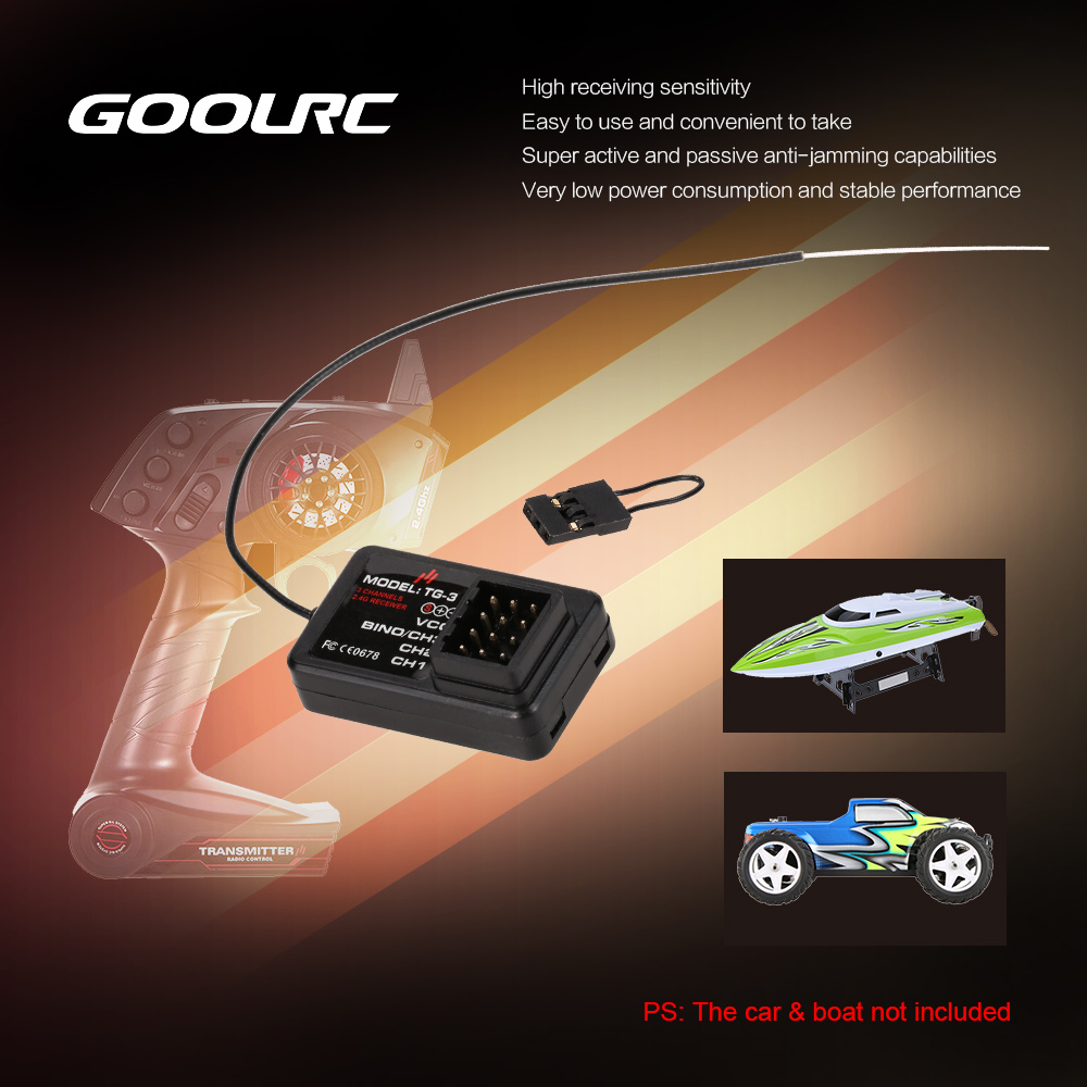 Off Flash for RC Car Model TG 3CH LED Light Control Switch System Turn ON