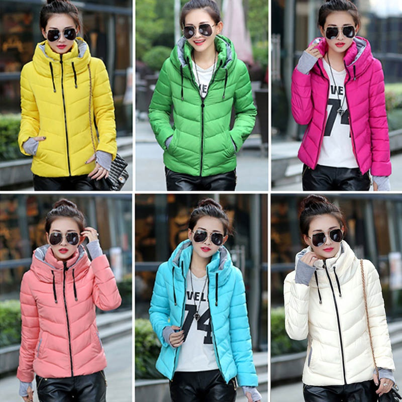 ZOGAA Autumn 2018 New   Parkas   Basic Jackets Female Women Winter Plus Hooded Coats Cotton Winter Jacket Womens Outwear Coat