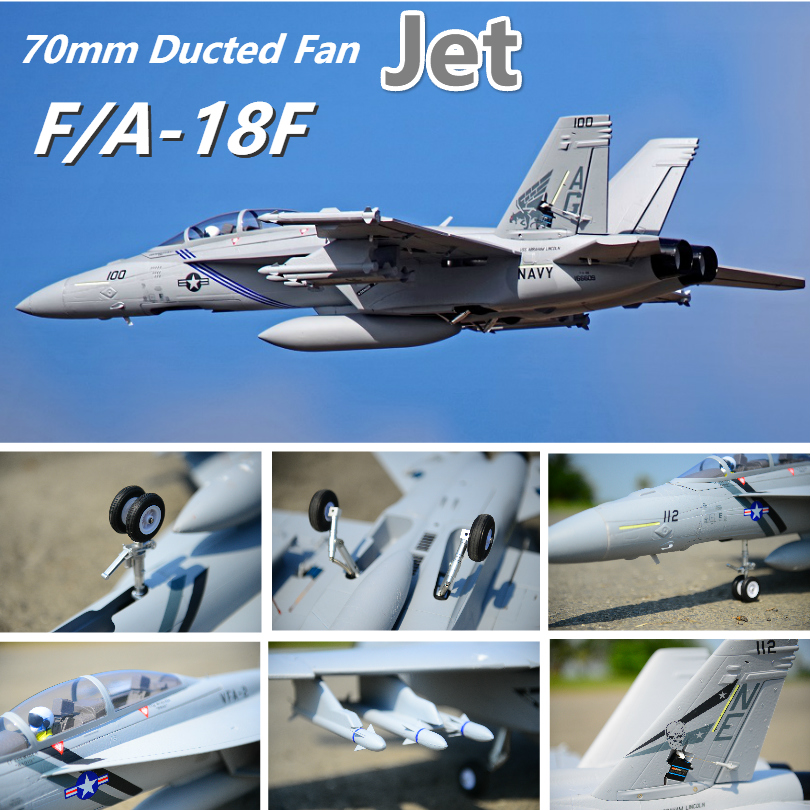 FMS RC Airplane F A 18F F18 Super Hornet 70mm Ducted Fan EDF Jet Big Scale