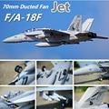 FMS RC Aereo F/A-18F F18 Super Hornet 70 millimetri Ducted Fan EDF Jet Grande Bilancia Modello di Aereo Aereo Aereo PNP 6CH 6 S con Ritrae Flaps