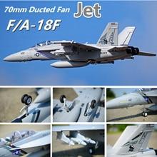 Радиоуправляемый самолет FMS F/A-18F F18 супер Hornet 70 мм импеллер EDF Jet большой масштабная модель самолет с самонастраиваемым устройством 6CH 6 S с убирается щитки