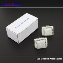 Liandlee For Mercedes Benz E Class W212 W207 C207 / LED Car License Plate Light Number Frame Lamp High Quality Lights