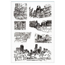 HUSTLE City Life Building Cars Transparent Rubber Clear Stamp/Seal Scrapbook/Photo DIY Album Decorative Card Making Clear Stamps(China)