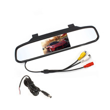 CHOGATH Car Rearview Mirror Monitor for Backup Reverse Camera TFT LCD Color Parking Assistance Rear View Camera Car Styling