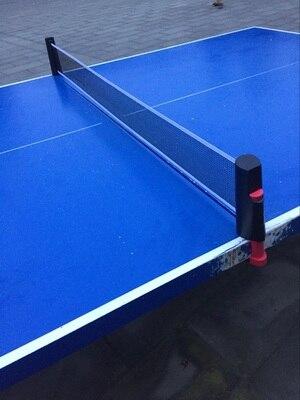 Haute Qualité Rétractable Table Tennis De Table en plastique Forte Maille Net Portable Net Kit Net Rack Remplacer Kit pour Ping-Pong jouer