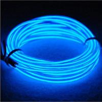 LumiParty 15ft Neon Light El Wire W Battery Pack For Parties Halloween Decoration Blue