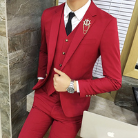 2018 Spring And Summer New Gentleman Suit Men's Business Casual Fashion Temperament British Style Professional Wear Tide