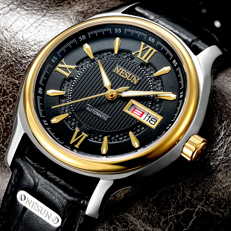 Switzerland Nesun Japan NH36A Automatic Movement Watch Men Luxury Brand Men s Watches Sapphire Genuine Leather