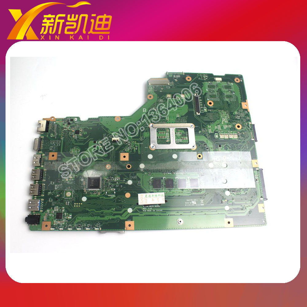 Free shipping For ASUS X75A Laptop font b motherboard b font mainboard with REV 2 0
