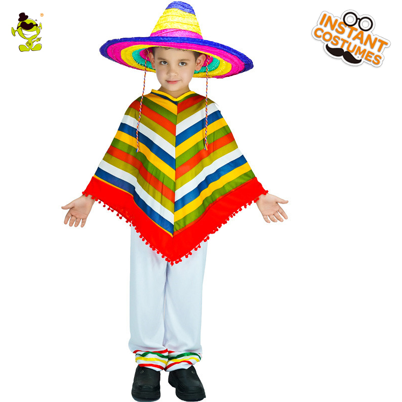 Kid/'s Mexican Poncho Costume