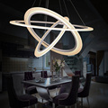modern led pendant light 3 rings Circles Hanging lights for living dining room Suspended pendant lamp luminaire Modern lighting