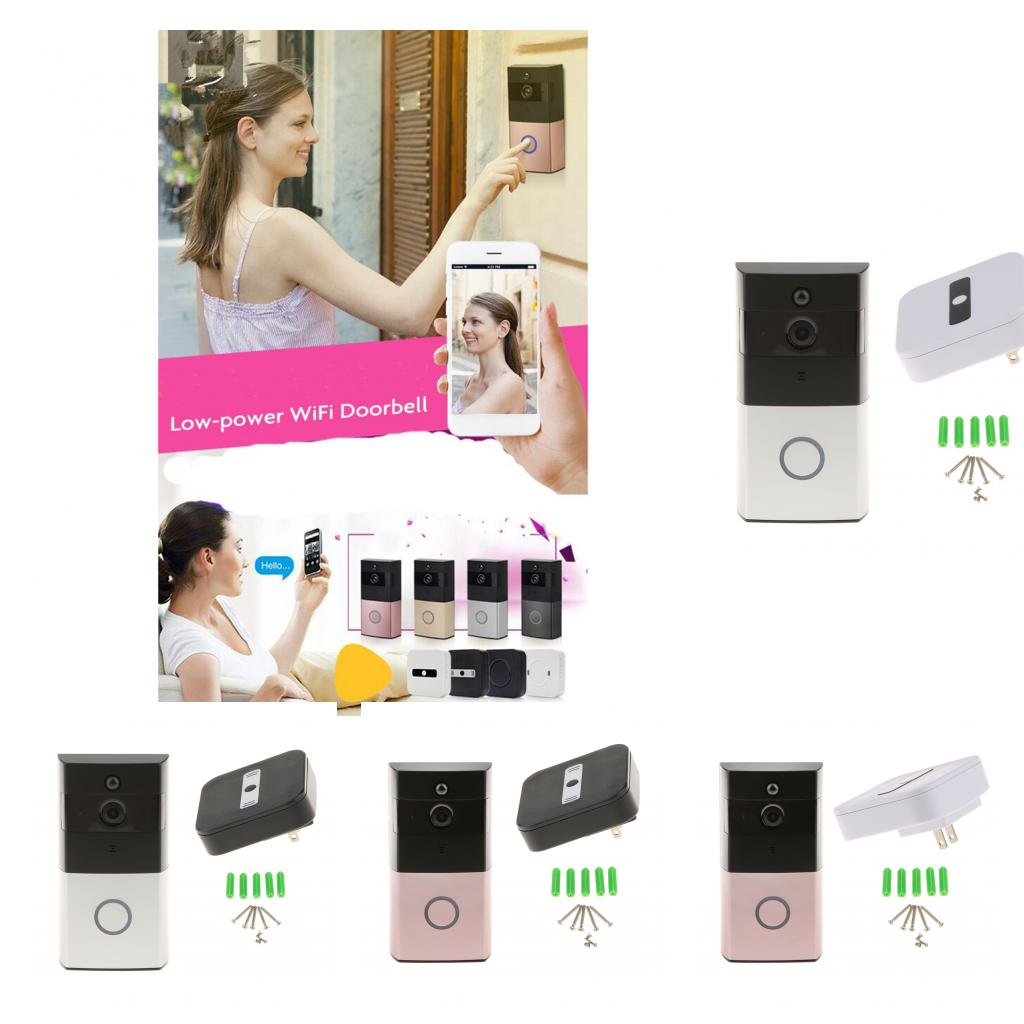 Smart Wireless WiFi Doorbell Video Camera Phone Intercom Ring Bell for Home Security wireless smoke fire detector for wireless for touch keypad panel wifi gsm home security burglar voice alarm system