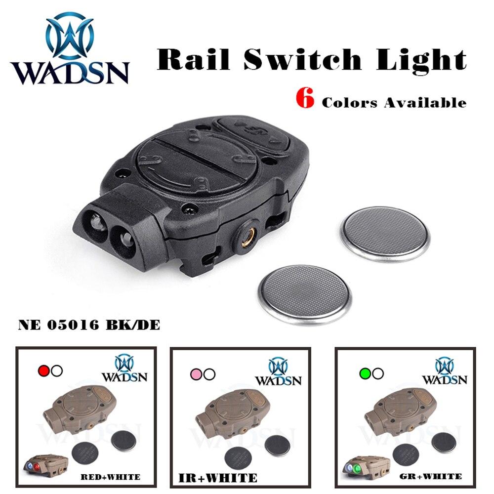 wadsn princeton capacete tatico luz para picatinny ferroviario com interruptor remoto lampada cauda branco vermelho ir