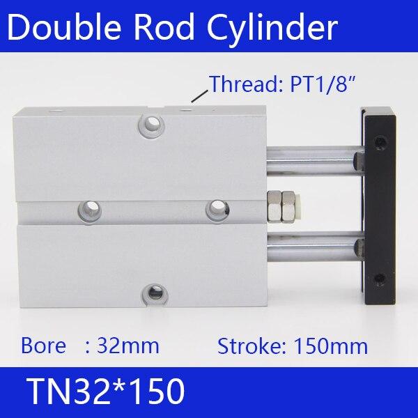 TN32*150 Бесплатная доставка 32 мм Диаметр 150 мм ход компактный воздуха цилиндры TN32X150-с двойного действия воздуха пневматический цилиндр