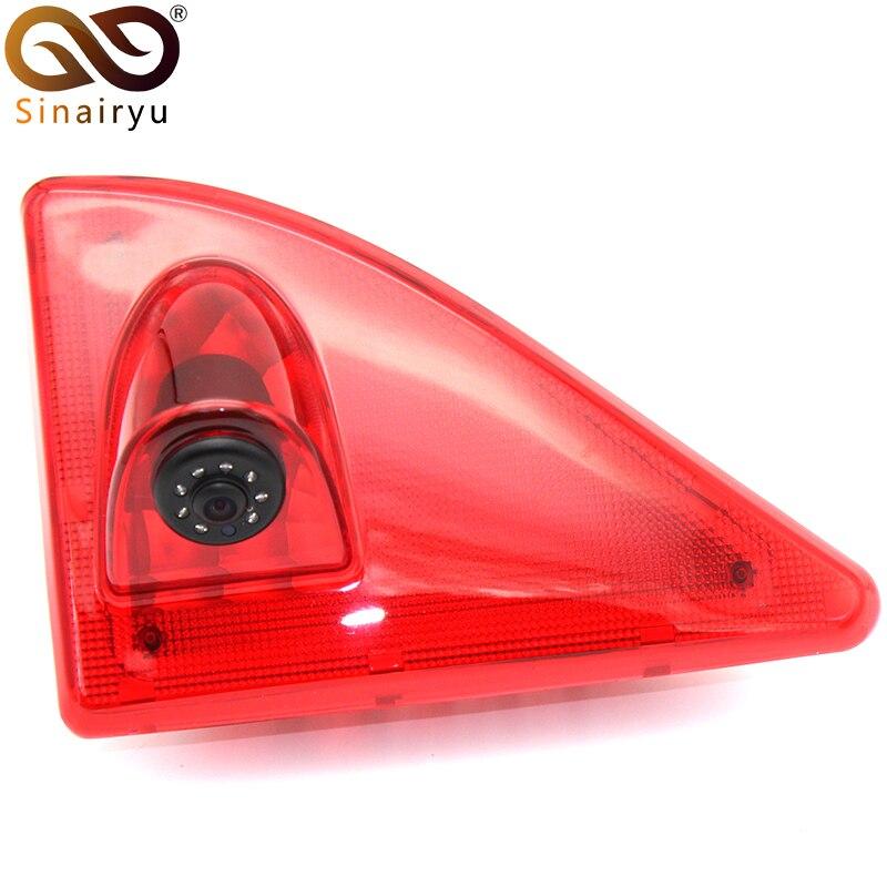 Sinairyu feu de frein de voiture caméra de recul pour Nissan NV400 Renault Master Opel Movano LED IR CCD caméra de recul de stationnement
