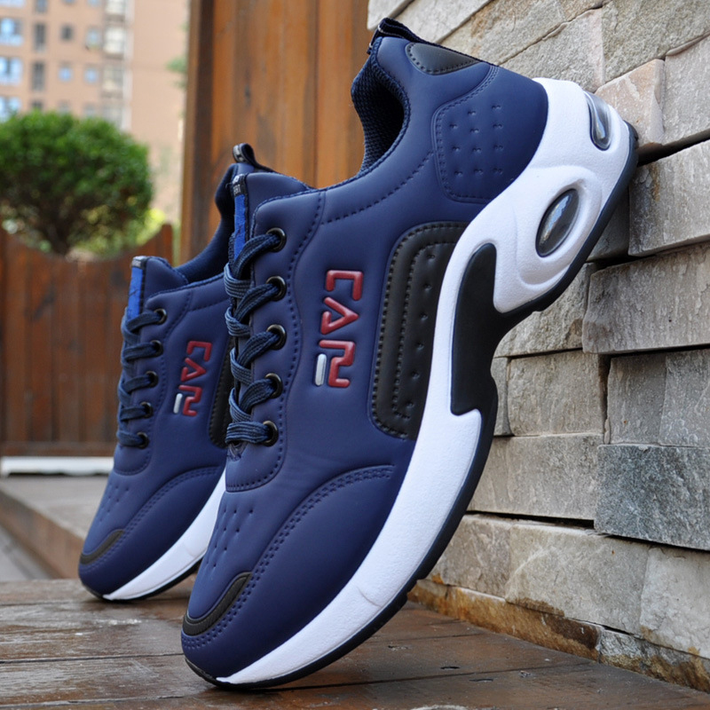 High Quality Men Sports Outdoor Shoes Air Cushion Sneakers Lace-up Casual Shoes Bubble Men Breathable Vamp Running Shoes