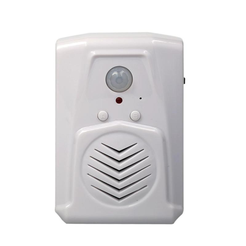 MP3 infrarrojos timbre inalámbrico PIR Sensor de detección de movimiento activado tienda Bienvenido Puerta de alarma de la entrada S3