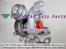 Free Ship GT1749V 724930 724930-5008S Turbo Turbocharger For AUDI A3 Skoda Octavia VW Passat B6 Golf Touran AZV BMM BKD 2.0L TD