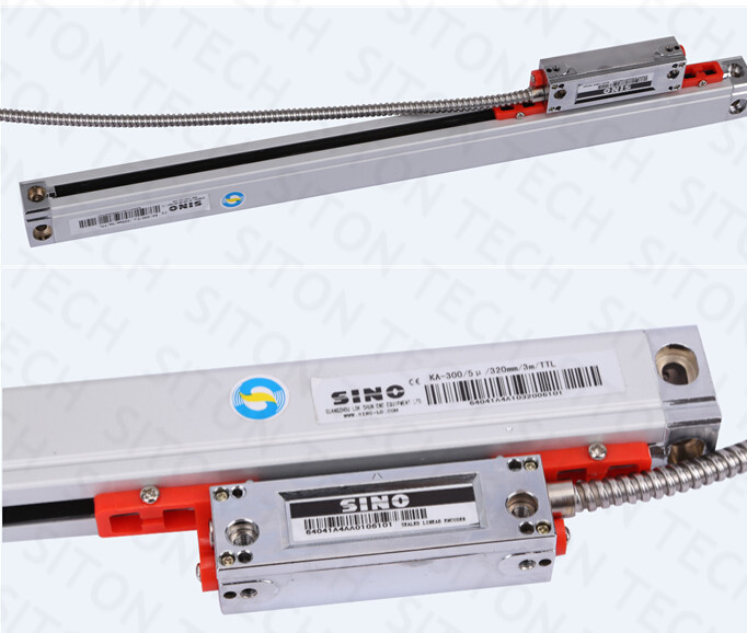 Genuine Sino KA-300 series 0.005 mm / 0.001mm resolution 420mm linear scale SINO KA300 420mm grating ruler best price linear scale 5micron linear encoder 120 170 220 270 320 370 420 470 520mm optical linear ruler free shipping