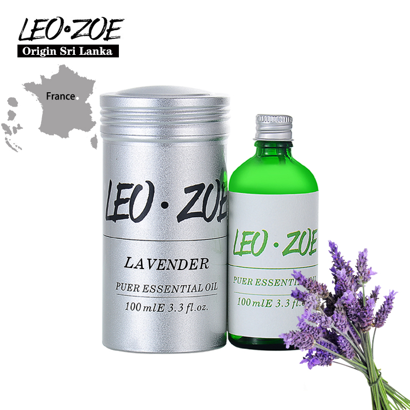 LEOZOE Lavender Essential Oil Certificate Of Origin France Authentication Aromatherapy Lavender Oil 100ML adult helmets for harley motorcycle retro half cruise helmet motorcycle helmet vintage german motorcycle moto