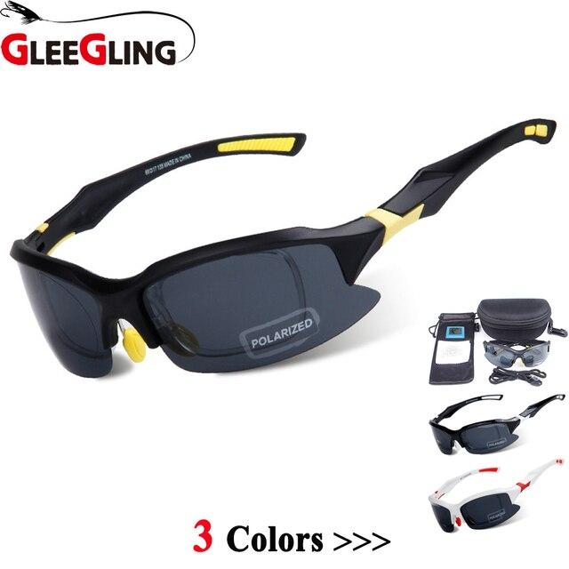 5209fb9ba GLEEGLING Nova Chegada Polarizada Esporte Óculos de Sol Lunetas Lunette UV  Peche Clip on Zonnebril Polarisantes