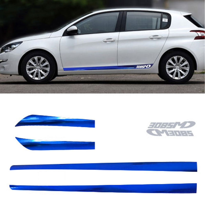 Compatible peugeot 306 stickers stickers retro car auto silver frosted