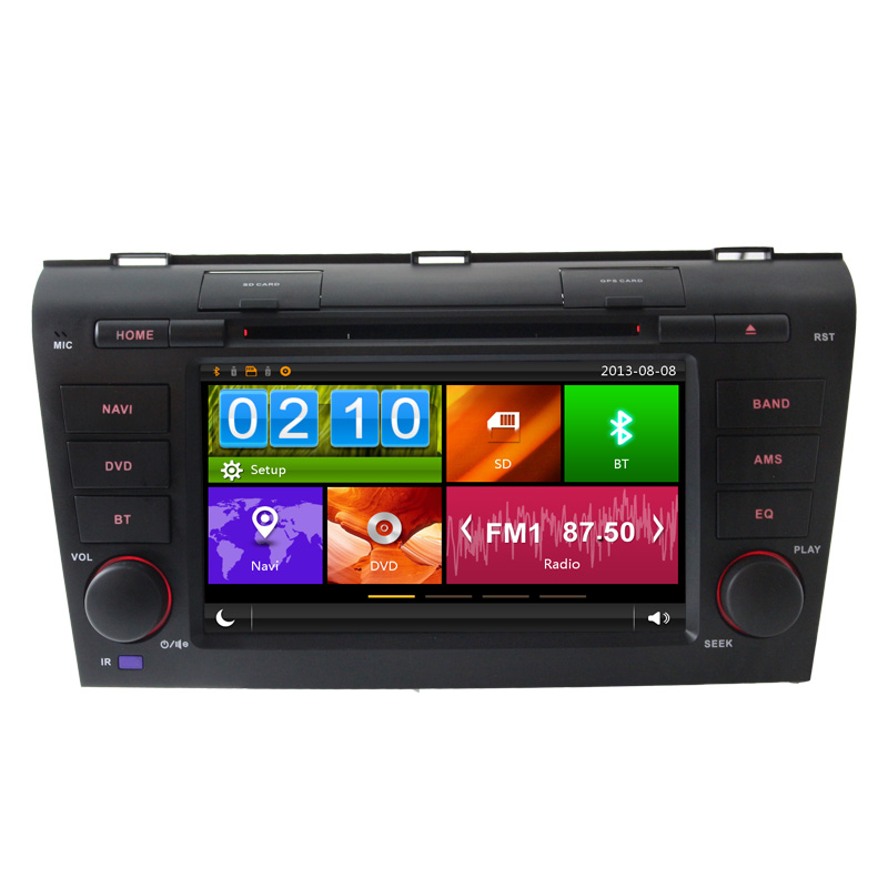 7 2 DIN Auto Car DVD player For Mazda Old 3 2004 2005 2006 2007 2008