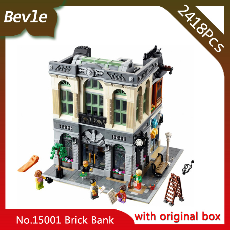 Bevle Store LEPIN 15001 2413Pcs with original box Street view Series Creator Building Blocks Bricks For Children Toys 10251 bevle store lepin 22001 4695pcs with original box movie series pirate ship building blocks bricks for children toys 10210 gift