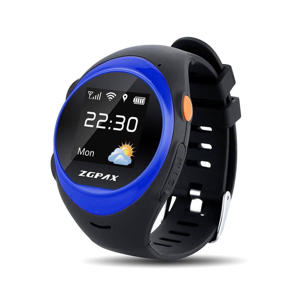 ZGPAX S888A Waterproof Smart Watch Children Elder SOS GPS Positioning Tracking Smartwatch Anti-lost Alarm For iOS Android smart baby watch q60s детские часы с gps голубые